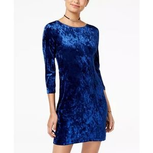 Teeze Me  Velvet Crisscross-Back Bodycon